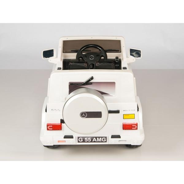 Masinuta electrica Mercedes G55 AMG 12V CU ROTI MOI #Alb 7