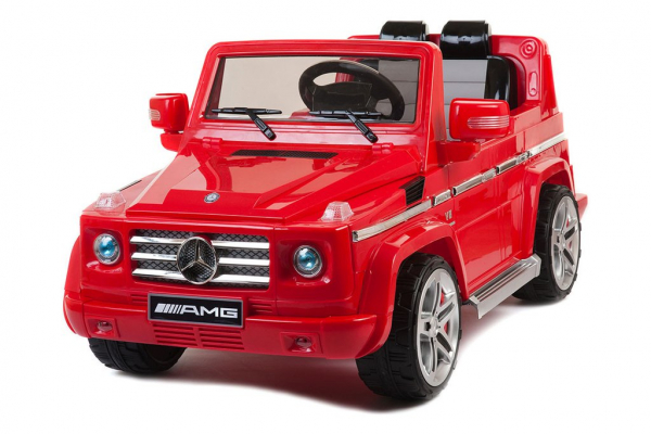 Kinderauto Mercedes G55 AMG 12V CU ROTI MOI #Rosu 0