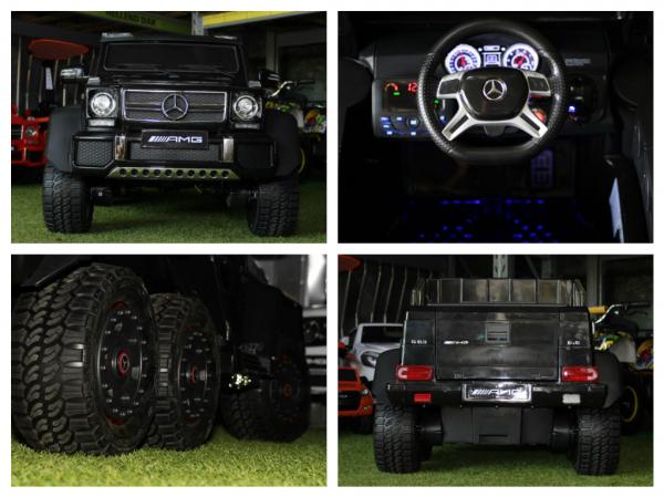 Masinuta electrica Mercedes G63 6x6 270W Premium #Negru 6