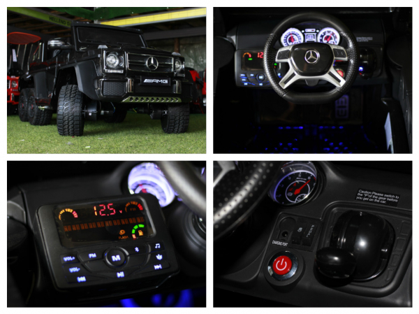 Masinuta electrica Mercedes G63 6x6 Premium cu 6 motoare #Negru 7