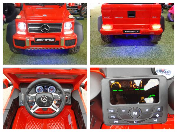 Kinderauto Mercedes G63 6x6 Premium #Rosu 2