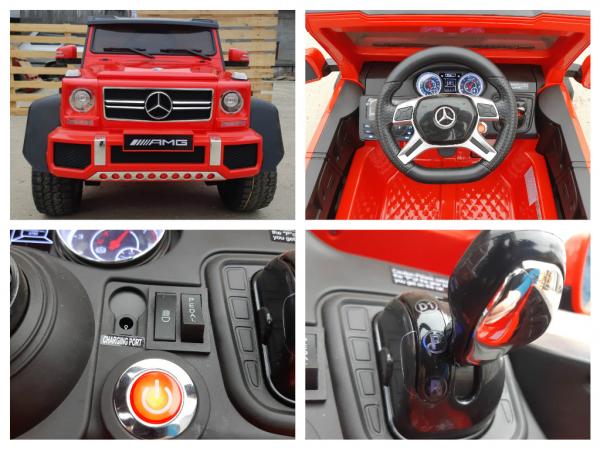 Kinderauto Mercedes G63 6x6 Premium #Rosu 4