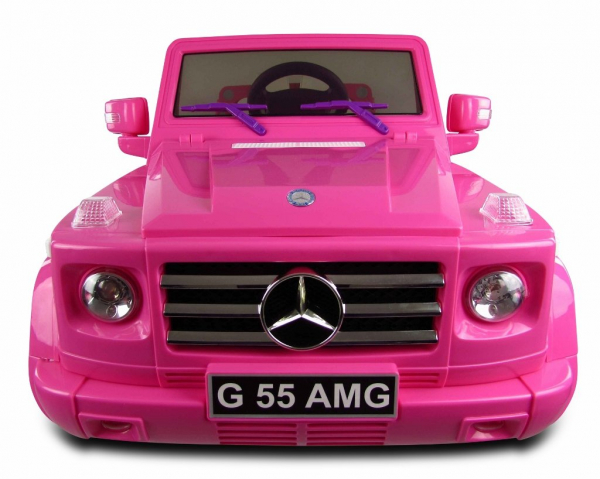 Masinuta electrica Mercedes G55 AMG 12V CU ROTI MOI #Roz 2