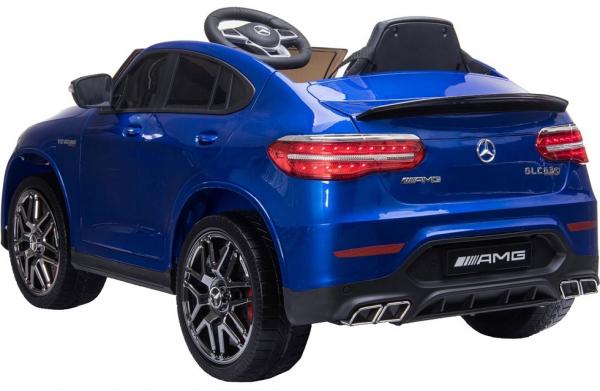 Masinuta electrica Mercedes GLC63s 70W 12V cu Scaun Tapitat #Albastru 4