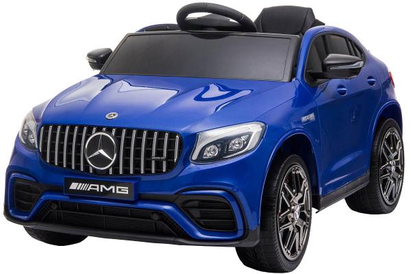 Masinuta electrica Mercedes GLC63s 70W 12V cu Scaun Tapitat #Albastru 0