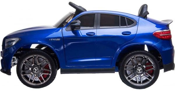 Masinuta electrica Mercedes GLC63s 70W 12V cu Scaun Tapitat #Albastru 3