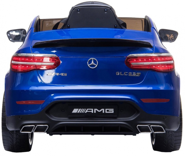 Masinuta electrica Mercedes GLC63s 70W 12V cu Scaun Tapitat #Albastru 5