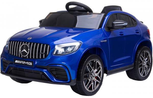 Masinuta electrica Mercedes GLC63s 70W 12V cu Scaun Tapitat #Albastru 1