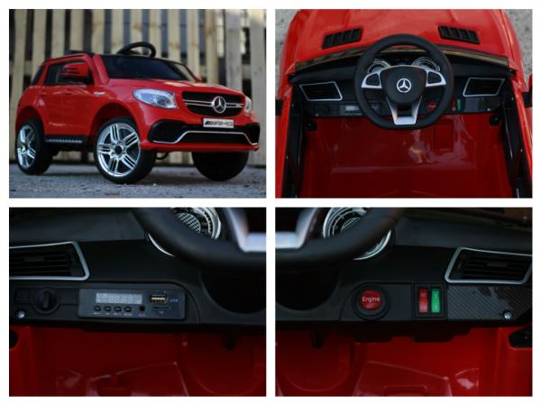 Masinuta electrica Mercedes GLE63S 2x22W 12V PREMIUM #Rosu 15