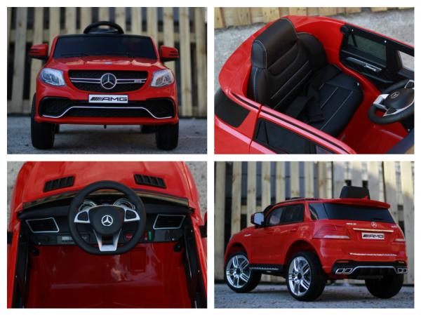 Masinuta electrica Mercedes GLE63S 2x22W 12V PREMIUM #Rosu 16
