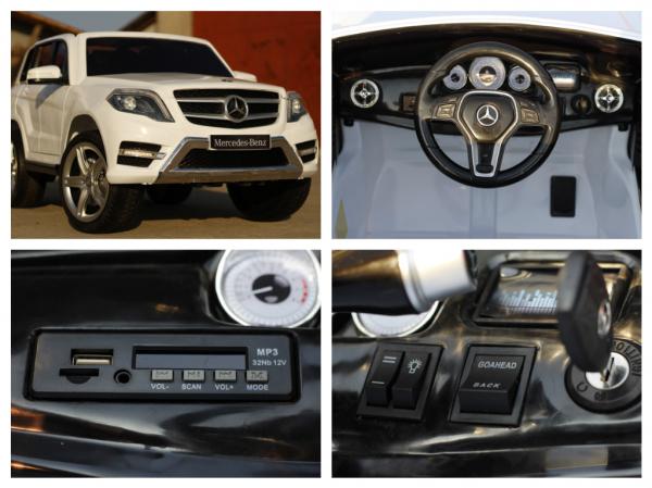 Masinuta electrica Mercedes GLK350 PREMIUM 2x35W 2X6V #Alb 8
