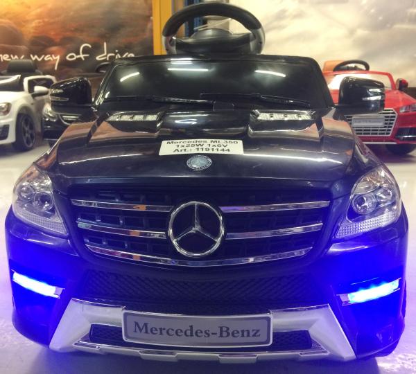 Masinuta electrica copii 2-4 ani Mercedes ML, neagra 6