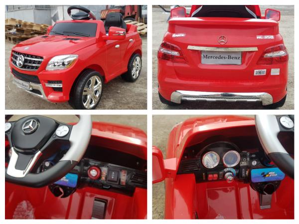 Kinderauto Mercedes ML350 STANDARD 1x25W #Rosu 4