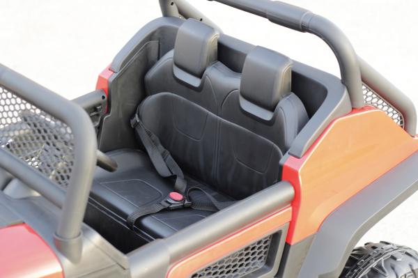 Kinderauto Mercedes UNIMOG STANDARD 2x45W 12V #Rosu 4