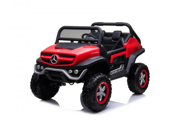 Masinuta electrica Mercedes UNIMOG STANDARD 2x45W 12V #Rosu 0