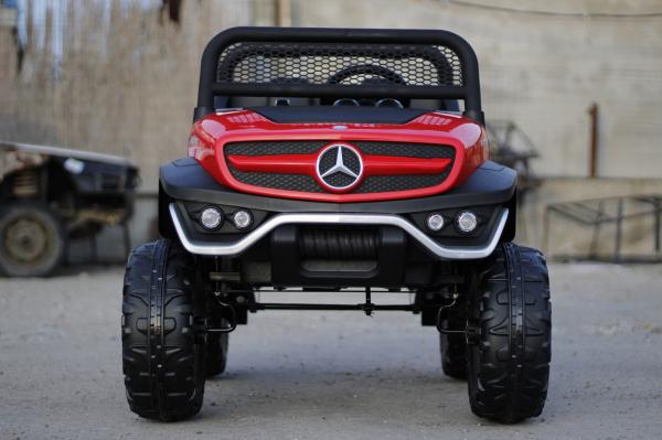Kinderauto Mercedes UNIMOG STANDARD 2x45W 12V #Rosu 1