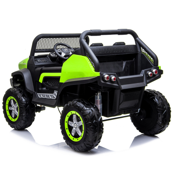 Masinuta electrica Mercedes UNIMOG 4x4 PREMIUM #Verde 3