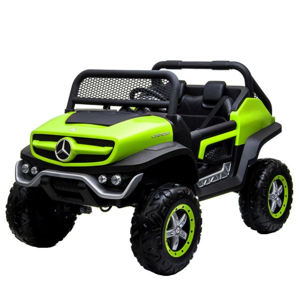 Masinuta electrica Mercedes UNIMOG 4x4 PREMIUM #Verde 0
