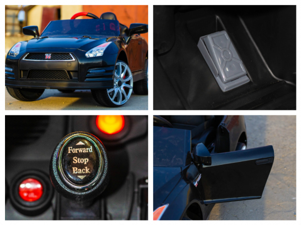Masinuta electrica Nissan GTR R35 STANDARD 2x 35W 12V #Negru 10