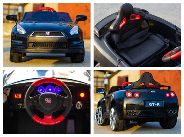 Masinuta electrica Nissan GTR R35 STANDARD 2x 35W 12V #Negru 7