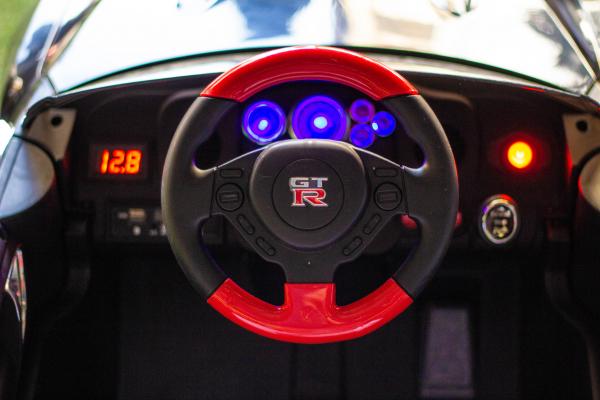 Masinuta electrica Nissan GTR R35 STANDARD 2x 35W 12V #Negru 6