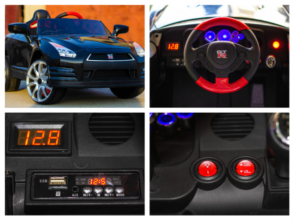 Masinuta electrica Nissan GTR R35 STANDARD 2x 35W 12V #Negru 8