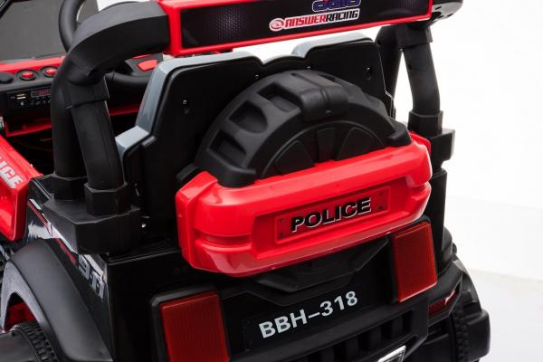 Masinuta electrica POLICE BBH-318 2x35W STANDARD #Rosu 5