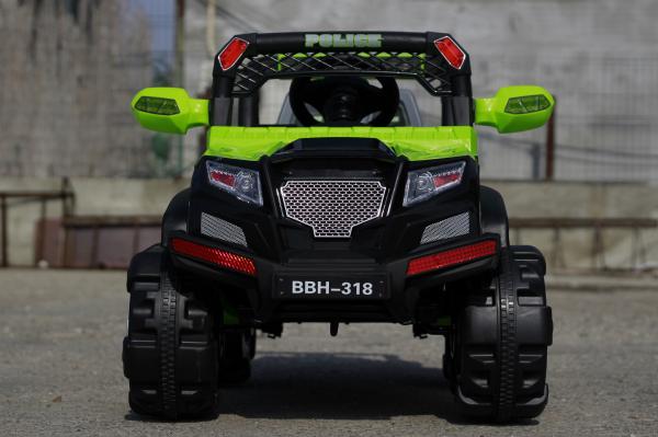 Masinuta electrica POLICE BBH-318 2x35W STANDARD #Verde 1