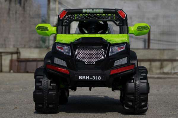 Kinderauto POLICE BBH-318 2x35W STANDARD #Verde 1