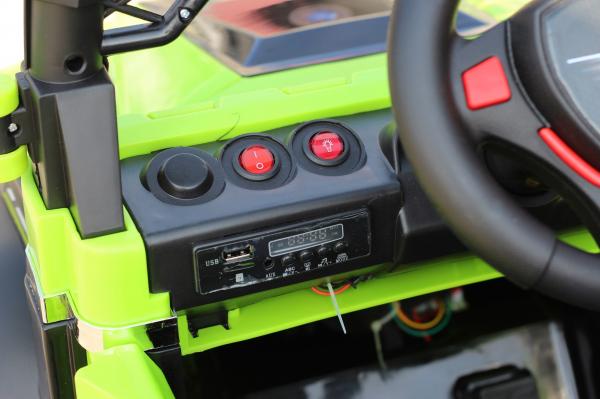 Masinuta electrica POLICE BBH-318 2x35W STANDARD #Verde 8
