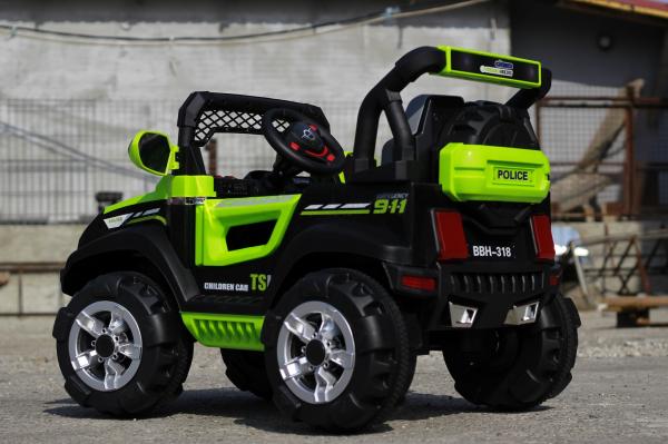 Kinderauto POLICE BBH-318 2x35W STANDARD #Verde 5