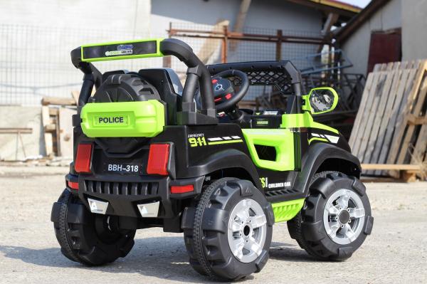 Kinderauto POLICE BBH-318 2x35W STANDARD #Verde 6