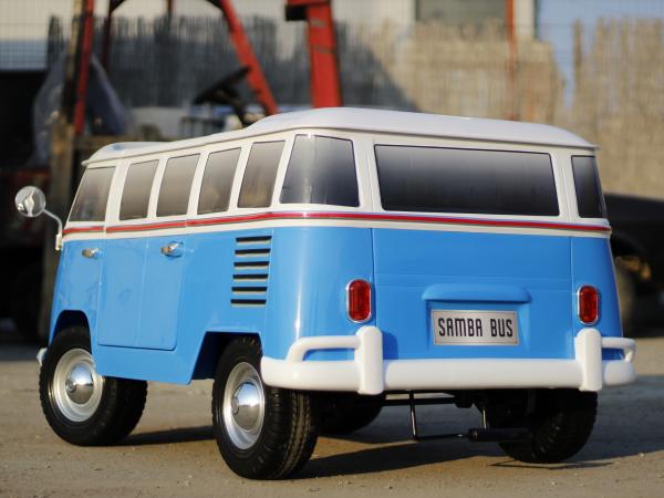 Kinderauto VW Samba Bus 2x45W, PREMIUM #Albastru 4