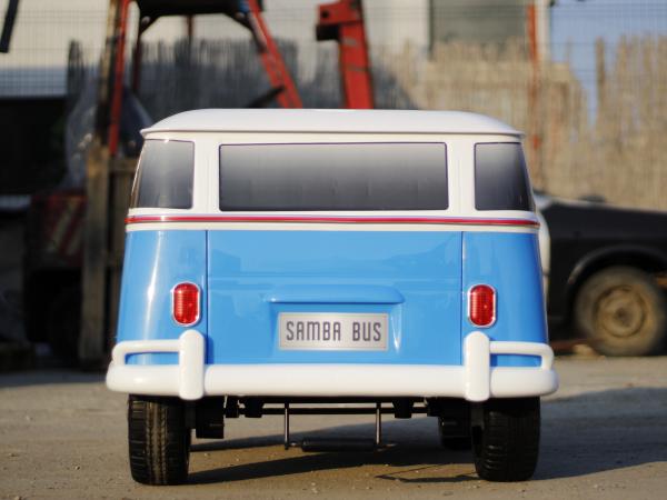 Kinderauto VW Samba Bus 2x45W, PREMIUM #Albastru 3