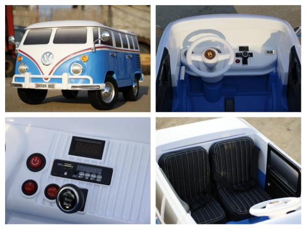 Kinderauto VW Samba Bus 2x45W, PREMIUM #Albastru 7