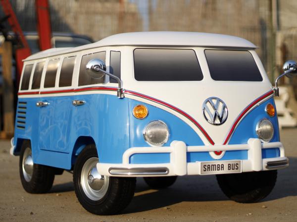 Kinderauto VW Samba Bus 2x45W, PREMIUM #Albastru 2