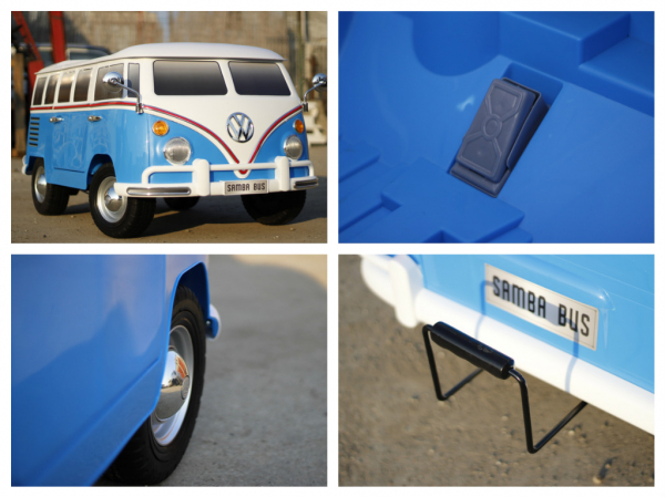 Kinderauto VW Samba Bus 2x45W, PREMIUM #Albastru 9