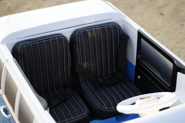 Kinderauto VW Samba Bus 2x45W, PREMIUM #Albastru 6