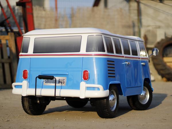 Kinderauto VW Samba Bus 2x45W, PREMIUM #Albastru 5