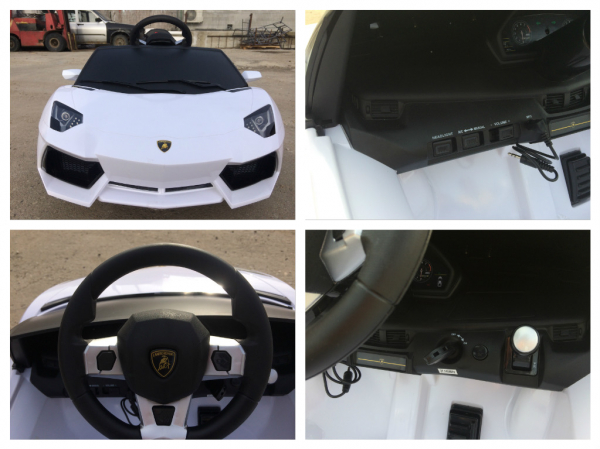 Masinuta electrica Lamborghini Aventador LP 700-4 STANDARD #Alb 8