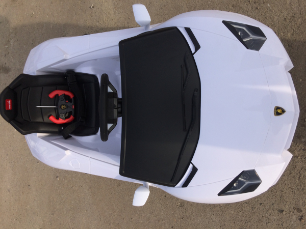 Masinuta electrica Lamborghini Aventador LP 700-4 STANDARD #Alb 5