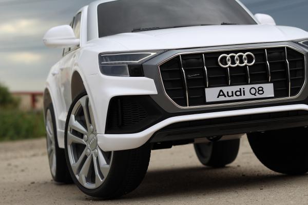 Masinuta electrica Audi Q8 STANDARD 12V #Alb 2