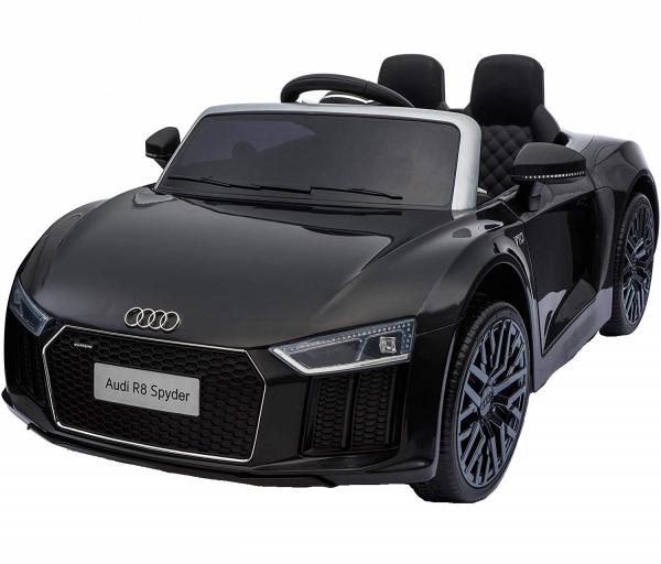 Audi R8 Spyder negru pentru copii intre 2 si 6 ani 0
