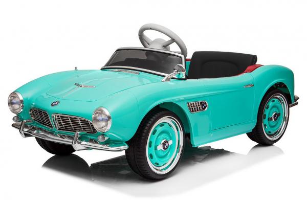 Masinuta electrica Bmw 507 Oldtimer 70W PREMIUM #Albastru 0