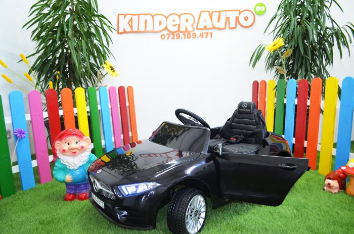 Masinuta electrica copii Mercedes CLS350 50W 12V PREMIUM #Negru [3]