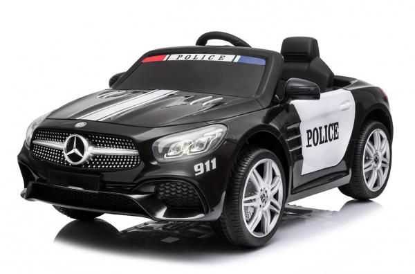 Masinuta electrica de politie Mercedes SL500 90W STANDARD #Negru 0