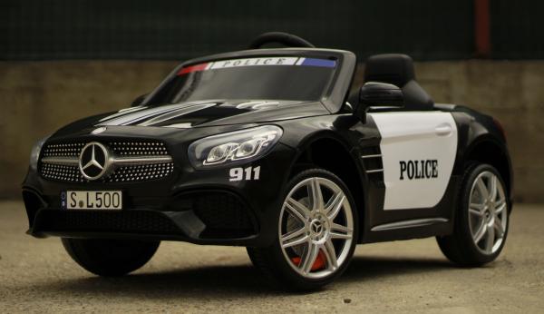 Masinuta electrica de politie Mercedes SL500 90W PREMIUM #Negru [5]