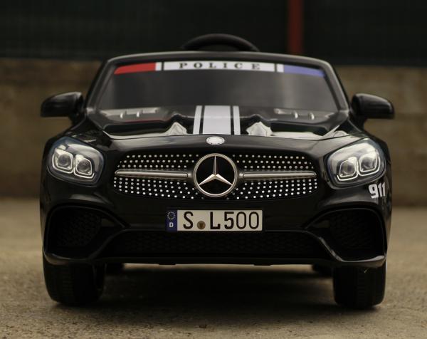 Masinuta electrica de politie Mercedes SL500 90W STANDARD #Negru 1