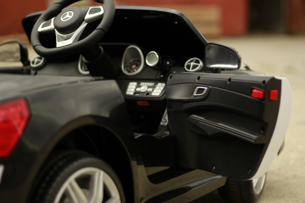 Masinuta electrica de politie Mercedes SL500 90W PREMIUM #Negru [2]