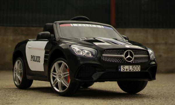 Masinuta electrica de politie Mercedes SL500 90W PREMIUM #Negru [8]